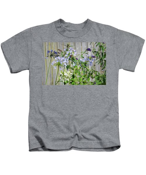 Backyard Flowers Kids T-Shirt