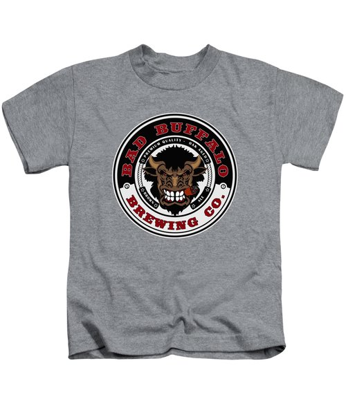 Bad Buffalo Brewing Kids T-Shirt by Christopher Williams