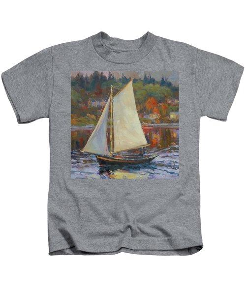 Bainbridge Island Sail Kids T-Shirt