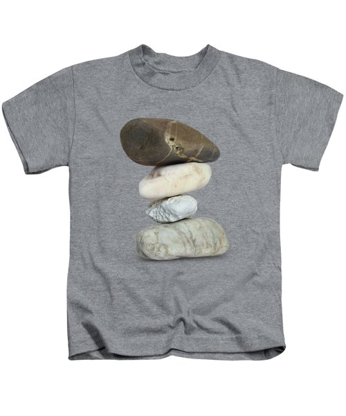 Balancing Stone Tower On White Background Kids T-Shirt