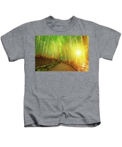 Bamboo Grove Arashiyama Kyoto Kids T-Shirt