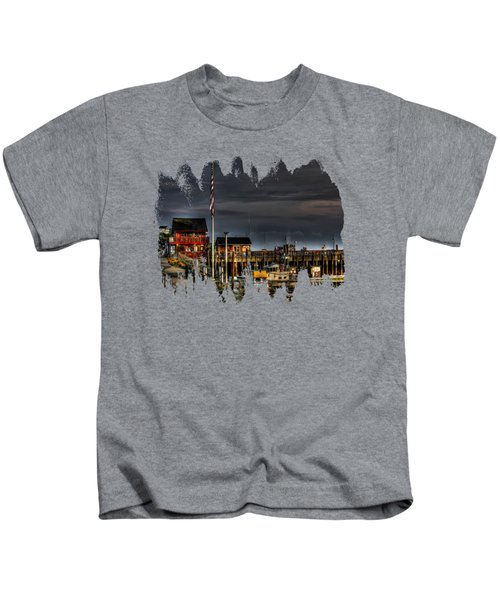 Bandon Boat Basin At Dawn Kids T-Shirt