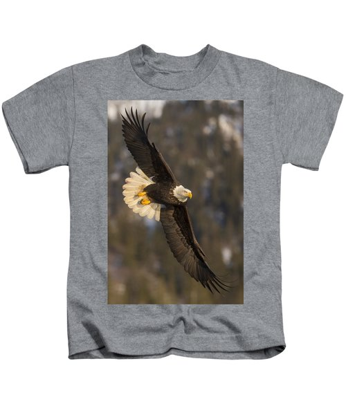 Banking Bald Eagle Kids T-Shirt