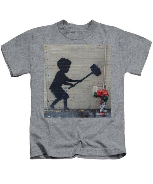 Banksy In New York Kids T-Shirt