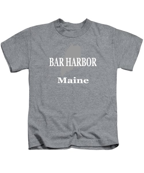 Bar Harbor Maine City And Town Pride  Kids T-Shirt