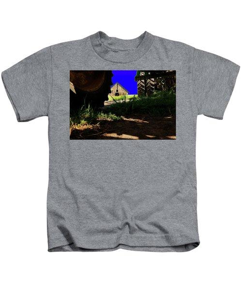 Barn From Under The Equipment Kids T-Shirt