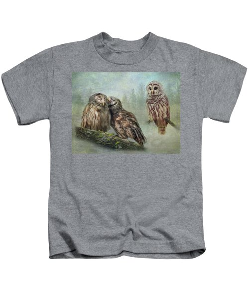Barred Owls - Steal A Kiss Kids T-Shirt