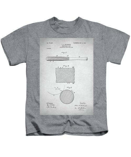 Baseball Bat Patent Kids T-Shirt by Taylan Apukovska