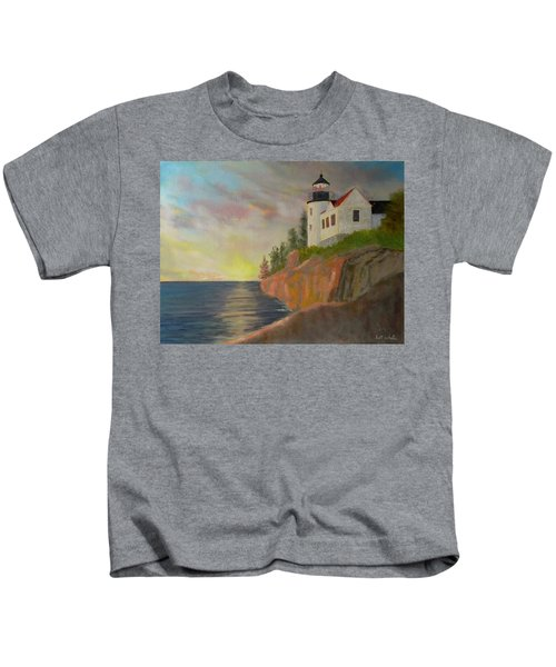 Bass Harbor Light Kids T-Shirt