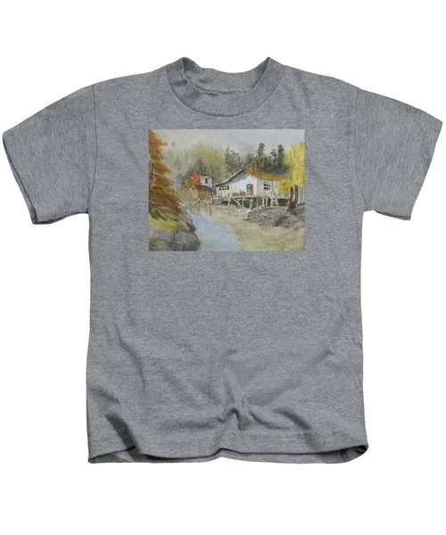 Bass Harbor Retreat Kids T-Shirt