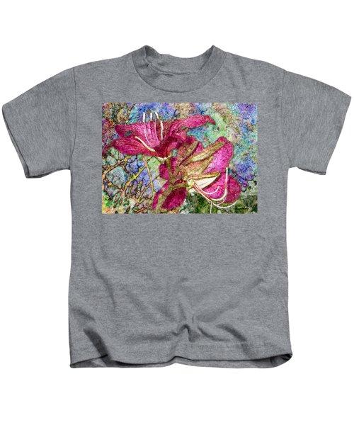 Batik Lilies Kids T-Shirt