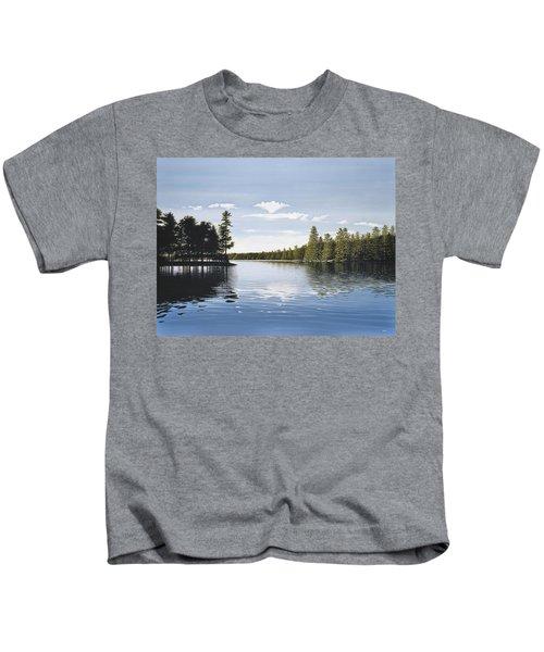 Bay On Lake Muskoka Kids T-Shirt