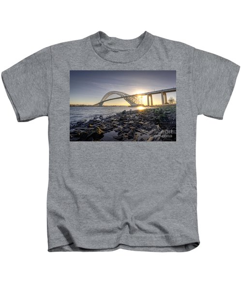 Bayonne Bridge Sunset Kids T-Shirt