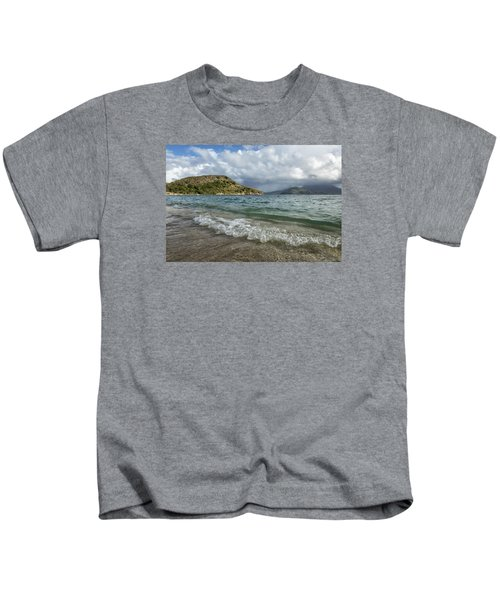 Beach At St. Kitts Kids T-Shirt