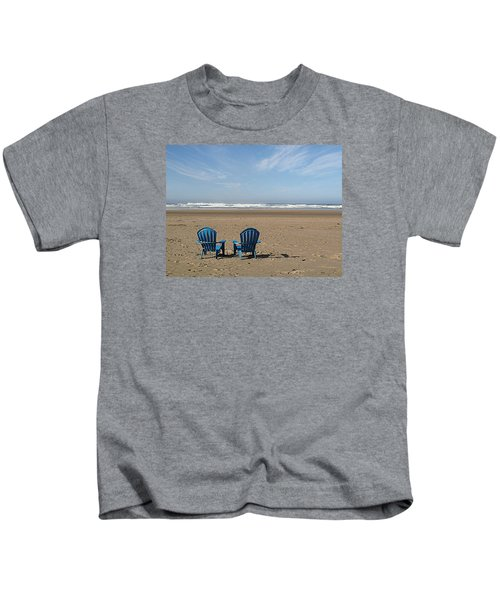 Beach Chair Pair Kids T-Shirt
