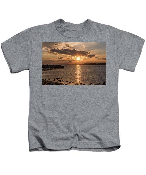 Beach Haven Nj Sunset January 2017 Kids T-Shirt