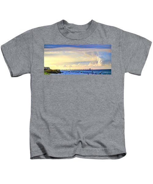 Beach House Window Kids T-Shirt
