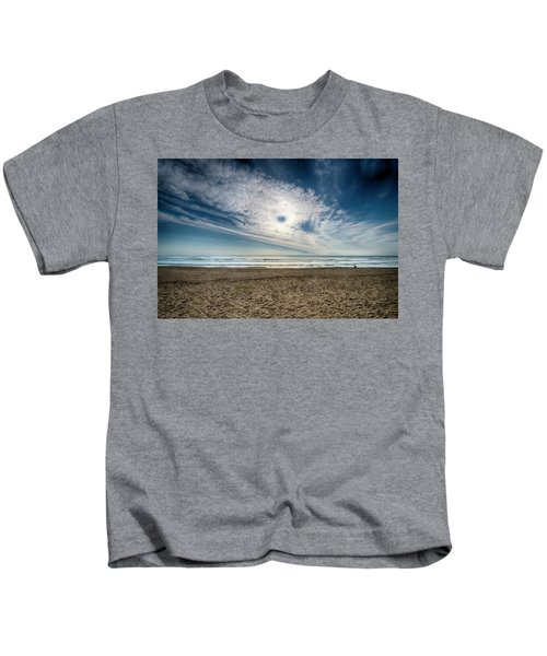 Beach Sand With Clouds - Spiagggia Di Sabbia Con Nuvole Kids T-Shirt