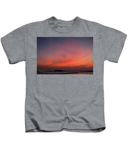 Beach Sky Blaze Kids T-Shirt