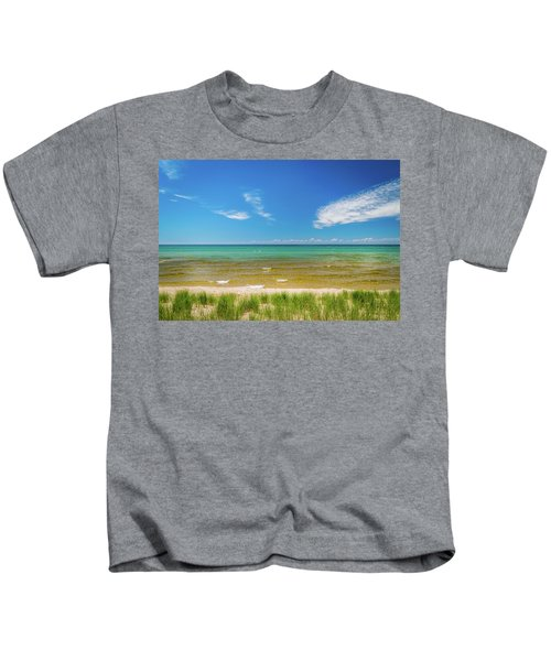 Beach With Blue Skies And Cloud Kids T-Shirt