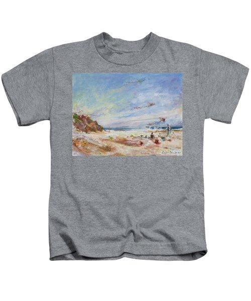 Beachy Day - Impressionist Painting - Original Contemporary Kids T-Shirt