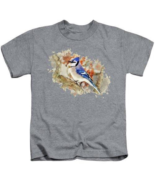Beautiful Blue Jay - Watercolor Art Kids T-Shirt