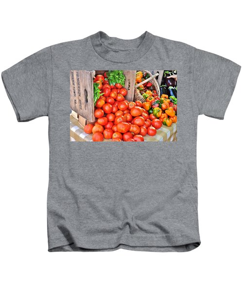 The Bountiful Harvest At The Farmer's Market Kids T-Shirt