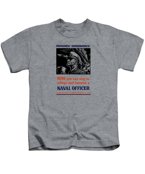 Become A Naval Officer Kids T-Shirt