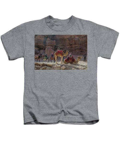 Bedouin Tribesmen, Petra Jordan Kids T-Shirt