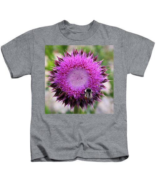 Bee On Thistle Kids T-Shirt