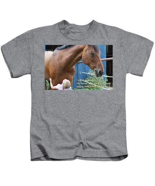 Being Awesome With My Horse Kids T-Shirt