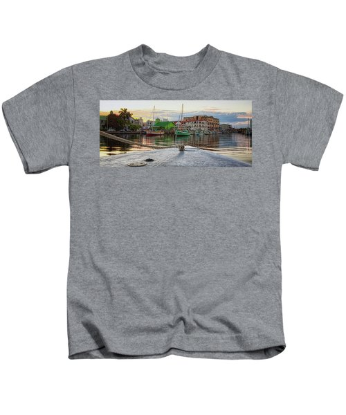 Belize City Harbor Kids T-Shirt