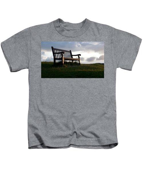 Bench At Sunset Kids T-Shirt