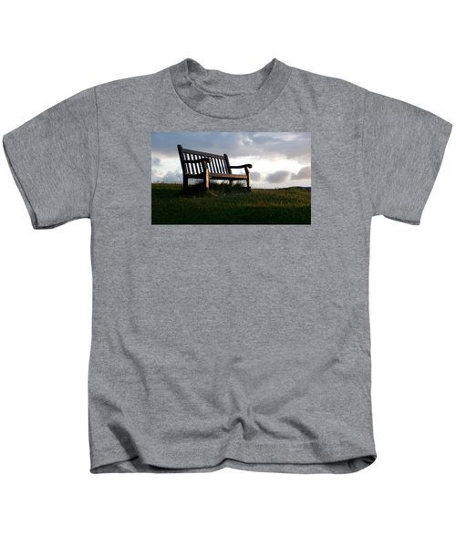 Bench At Sunset Kids T-Shirt
