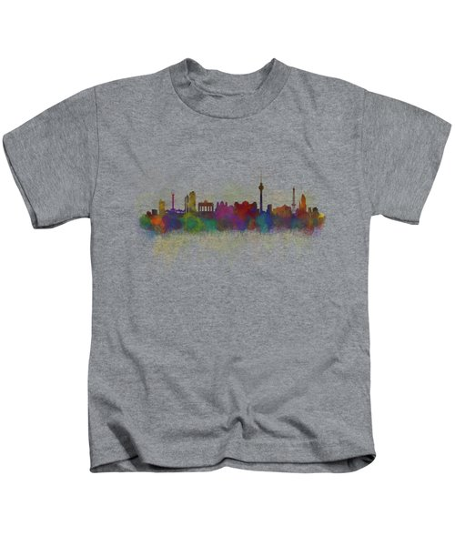 Berlin City Skyline Hq 5 Kids T-Shirt by HQ Photo