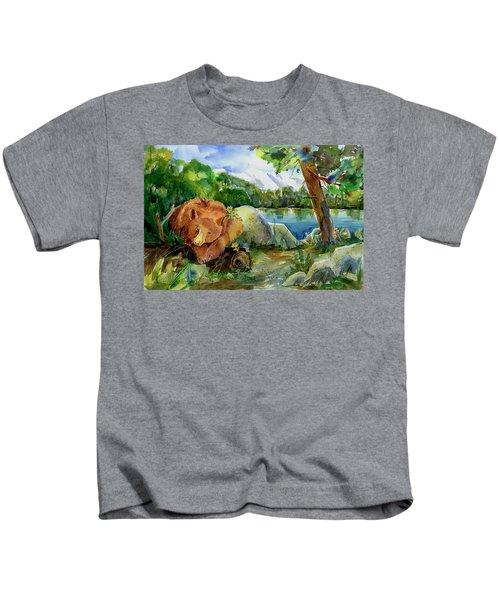 Between A Rock And Hardplace Kids T-Shirt