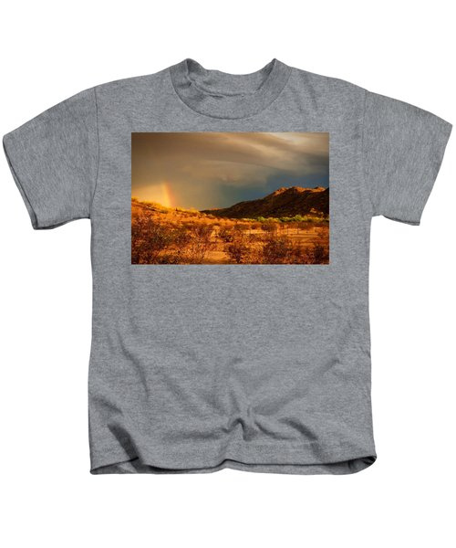 Kids T-Shirt featuring the photograph Beyond The Rainbow by Judy Kennedy