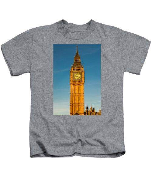 Big Ben Tower Golden Hour London Kids T-Shirt
