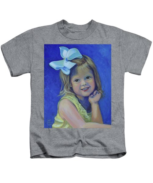 Big Bow Little Girl Kids T-Shirt