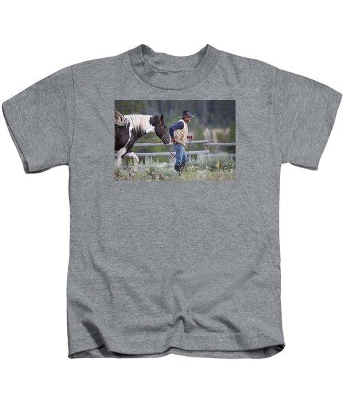 Big Horn Cowboy Kids T-Shirt