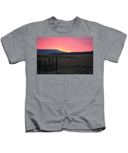 Big Horn Sunrise Kids T-Shirt