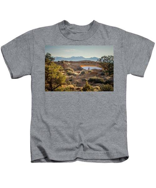 Bighorn Sheep And Mesa Arch Kids T-Shirt