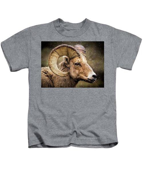 Bighorn Sheep In Winter Kids T-Shirt