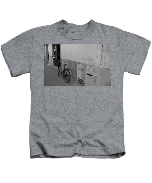 Bike In Alley Kids T-Shirt