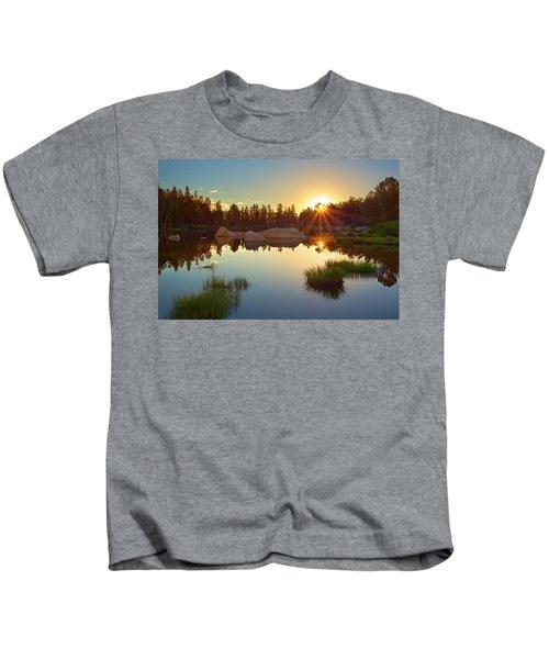Binary Sunrise Kids T-Shirt