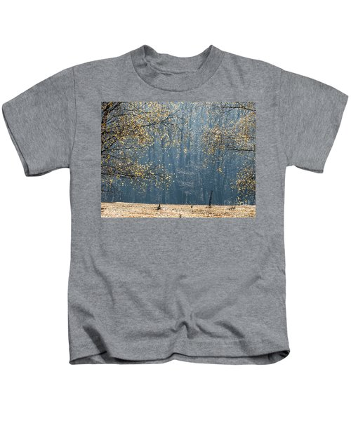 Birch Forest To The Morning Sun Kids T-Shirt