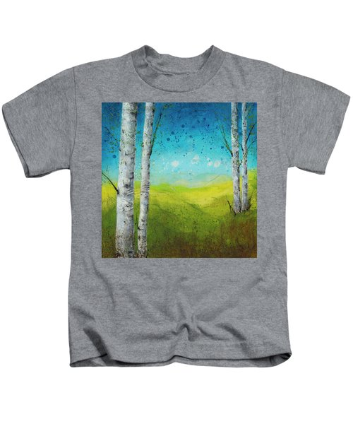 Birches In Green Kids T-Shirt