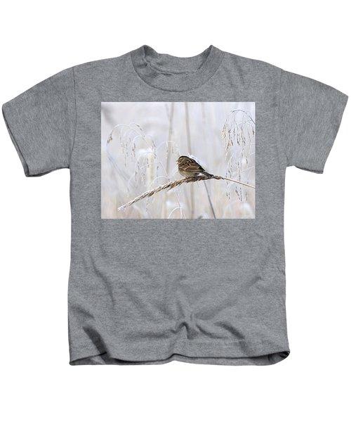 Bird In First Frost Kids T-Shirt