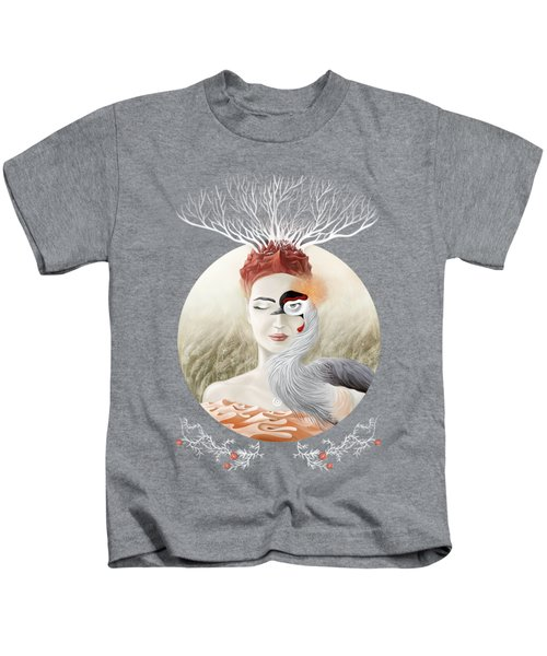 Bird Of Cranes Kids T-Shirt