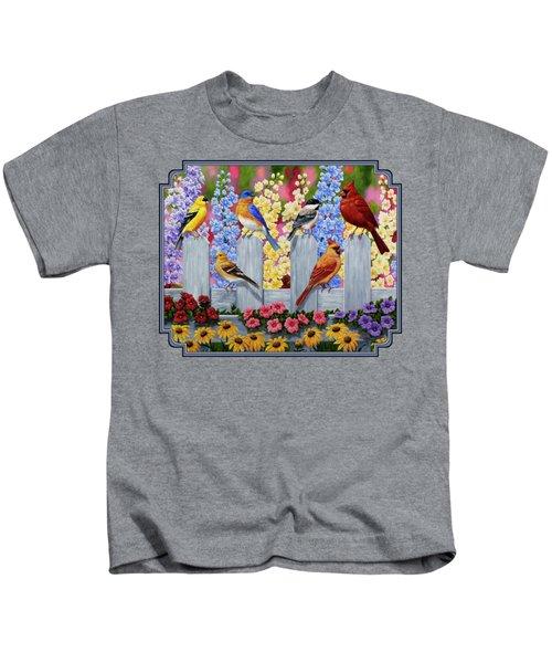 Bird Painting - Spring Garden Party Kids T-Shirt